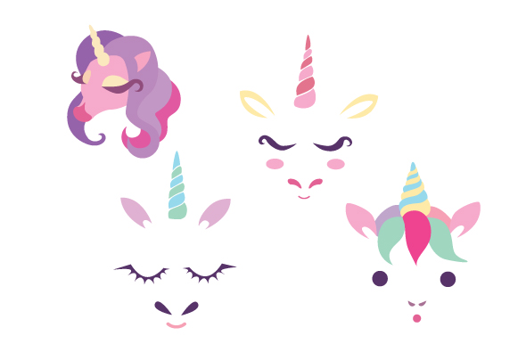 Download Free Unicorn Faces Svg Cut File By Creative Fabrica Crafts Creative for Cricut Explore, Silhouette and other cutting machines.