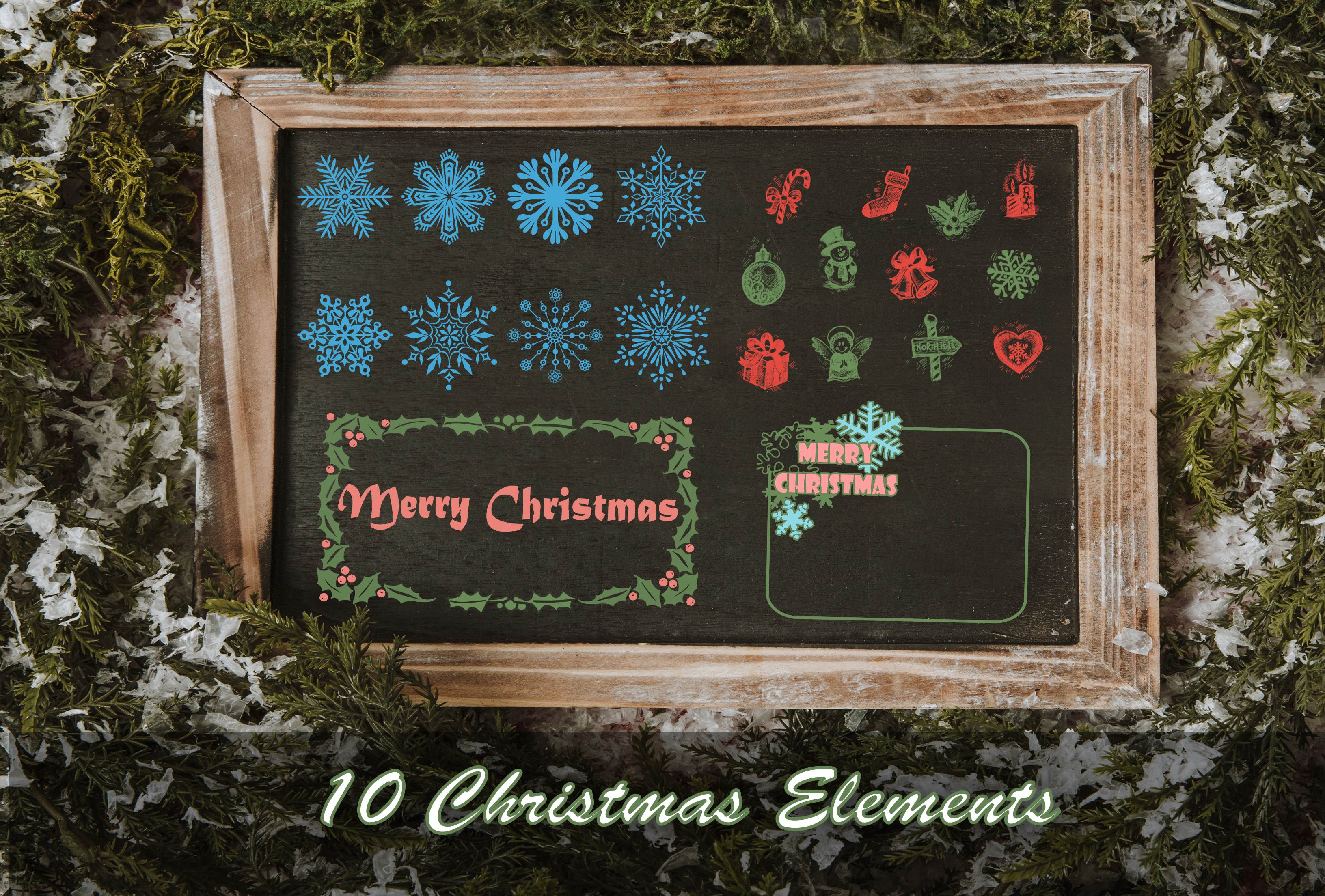 Print on Demand: 10 Christmas Elements Graphic Illustrations By Eldamar Studio