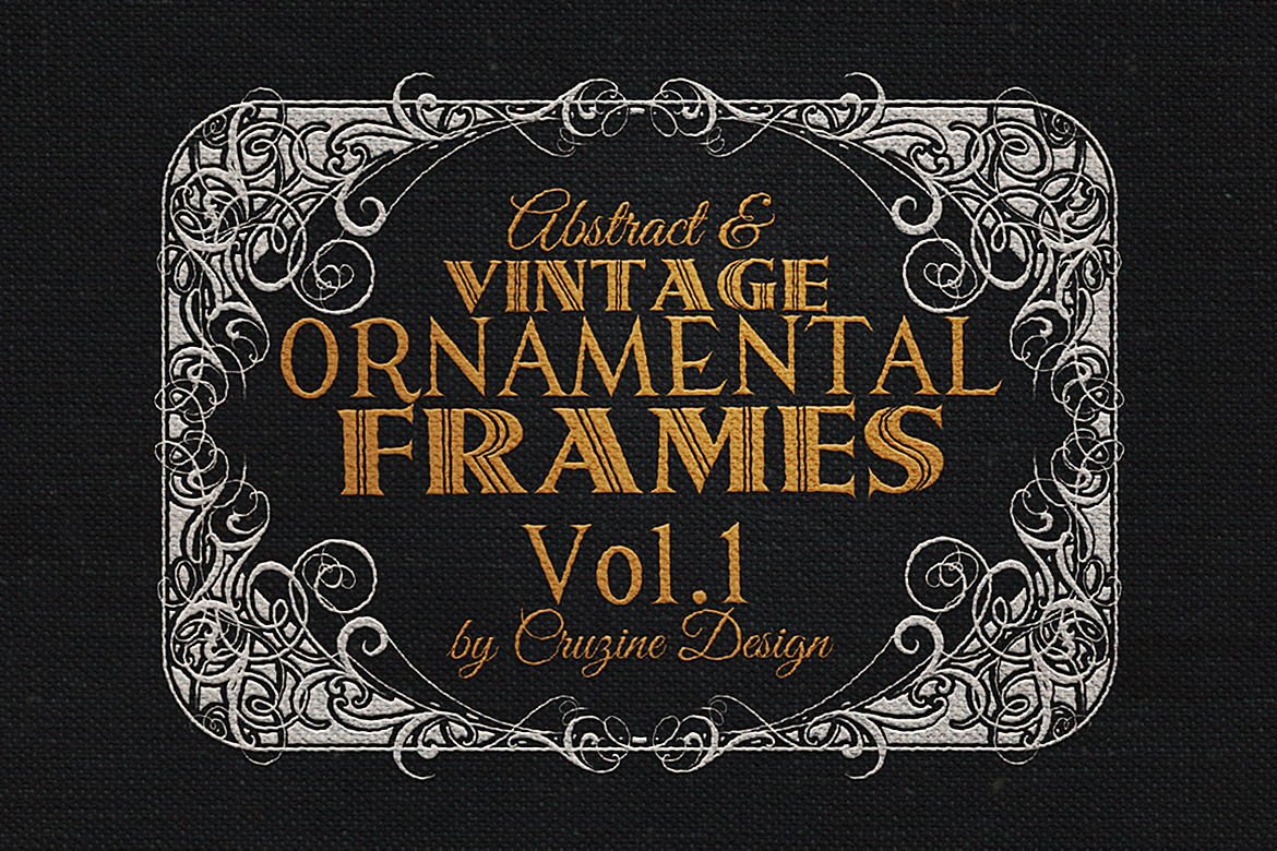Print on Demand: 10 Frames Vol.1 - Vintage Ornament Graphic Logos By JumboDesign