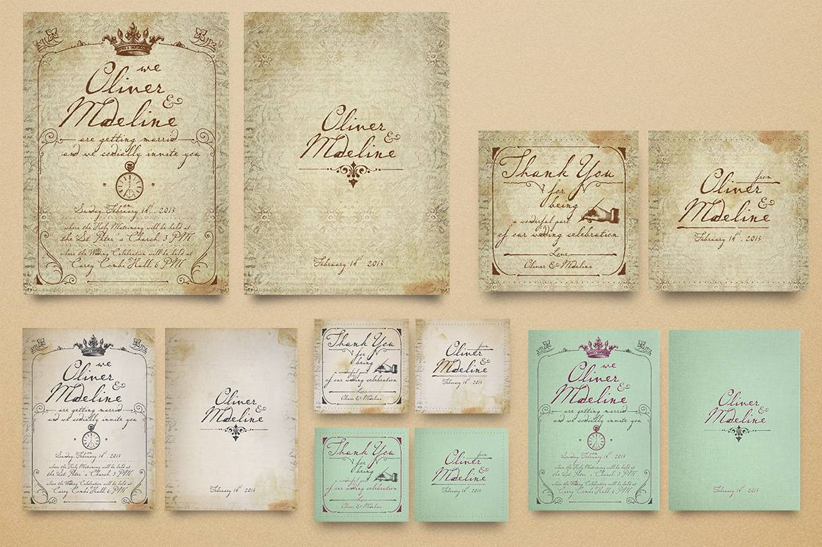 Download Free 1900 Paris Wedding Invitation Graphic By Blue Robin Design Shop for Cricut Explore, Silhouette and other cutting machines.