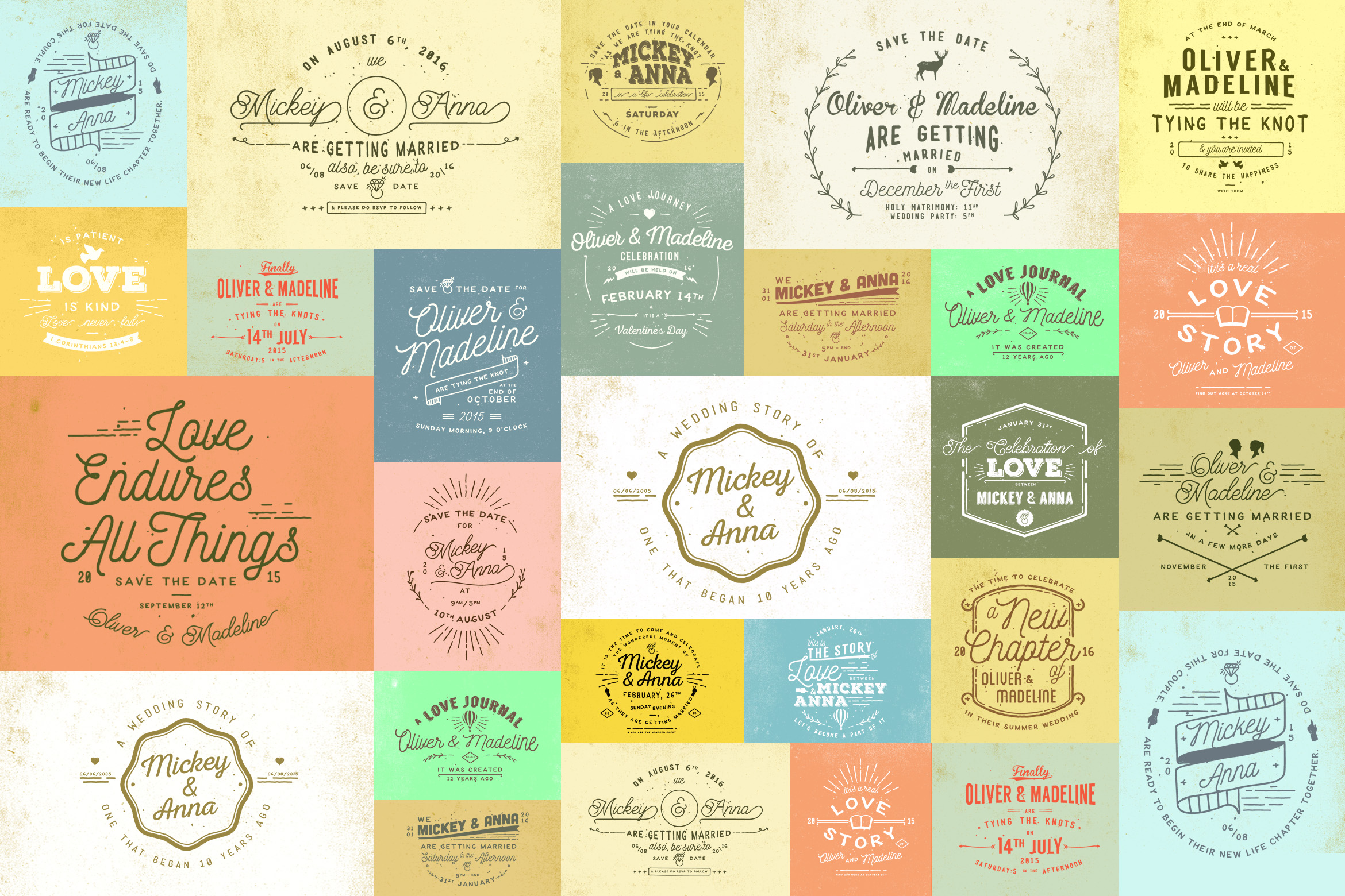 Print on Demand: 20 Rustic Wedding Badges Graphic Logos By Blue Robin Design Shop