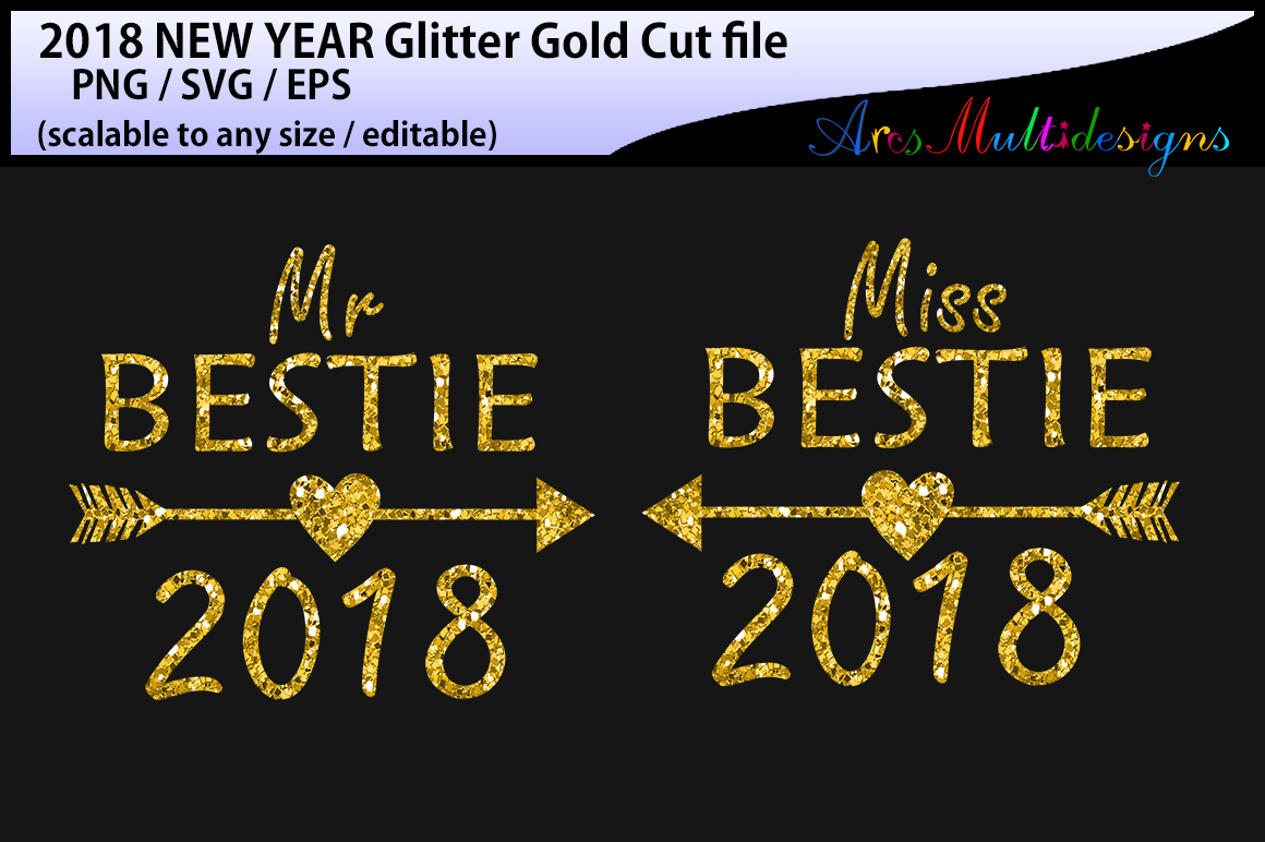 2018 Best Friend Cut File Graphic By Arcs Multidesigns