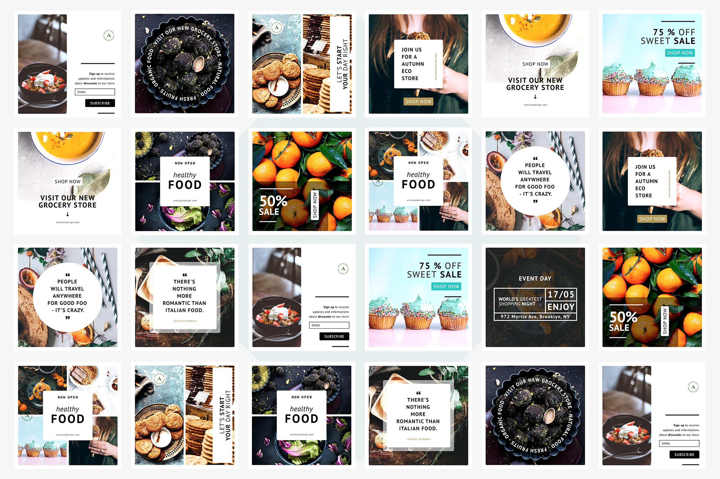 24 Instagram Templates Graphic Graphic Templates By Dmitry Mashkin - Image 2
