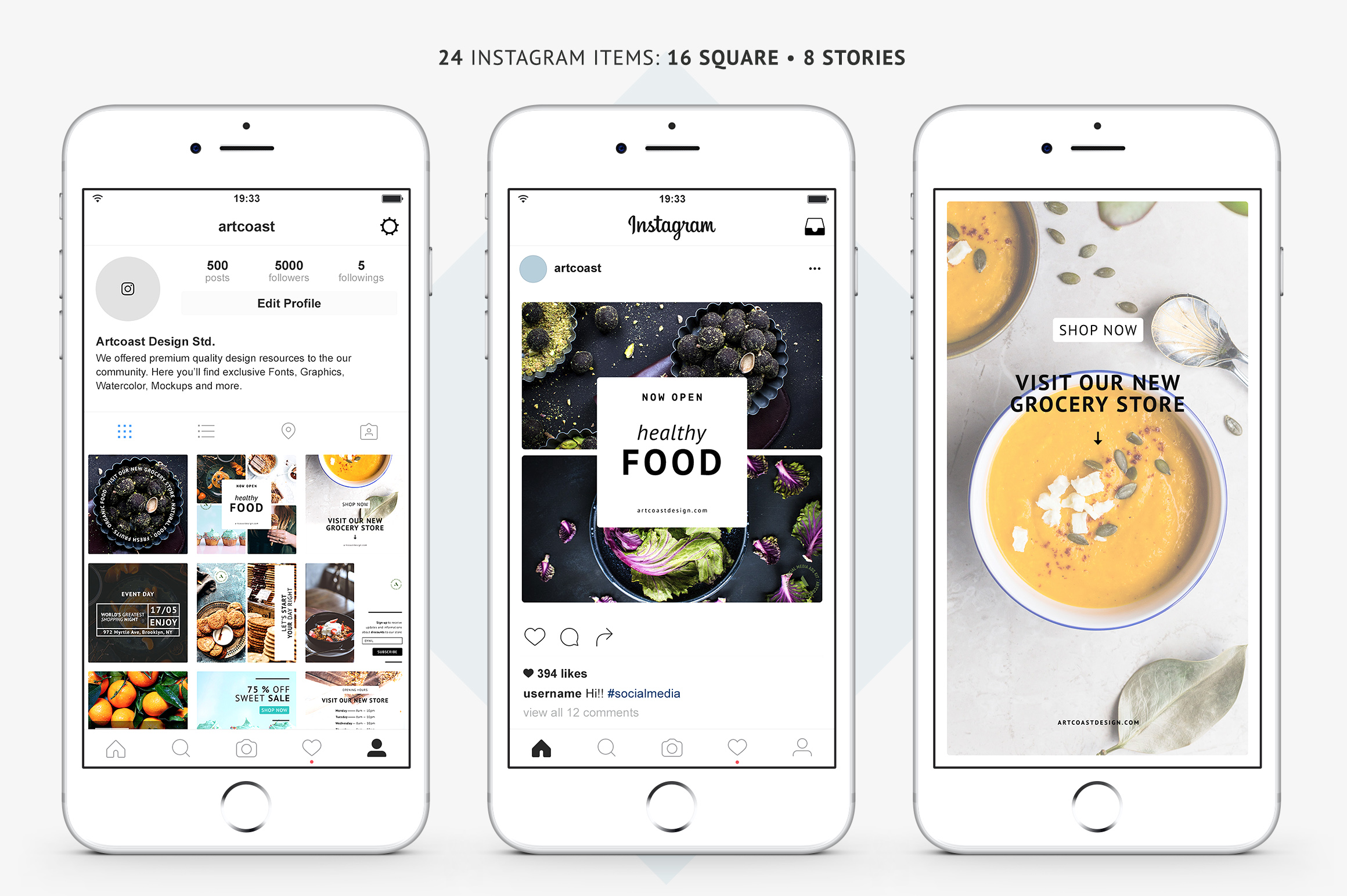 24 Instagram Templates Graphic Graphic Templates By Dmitry Mashkin - Image 4