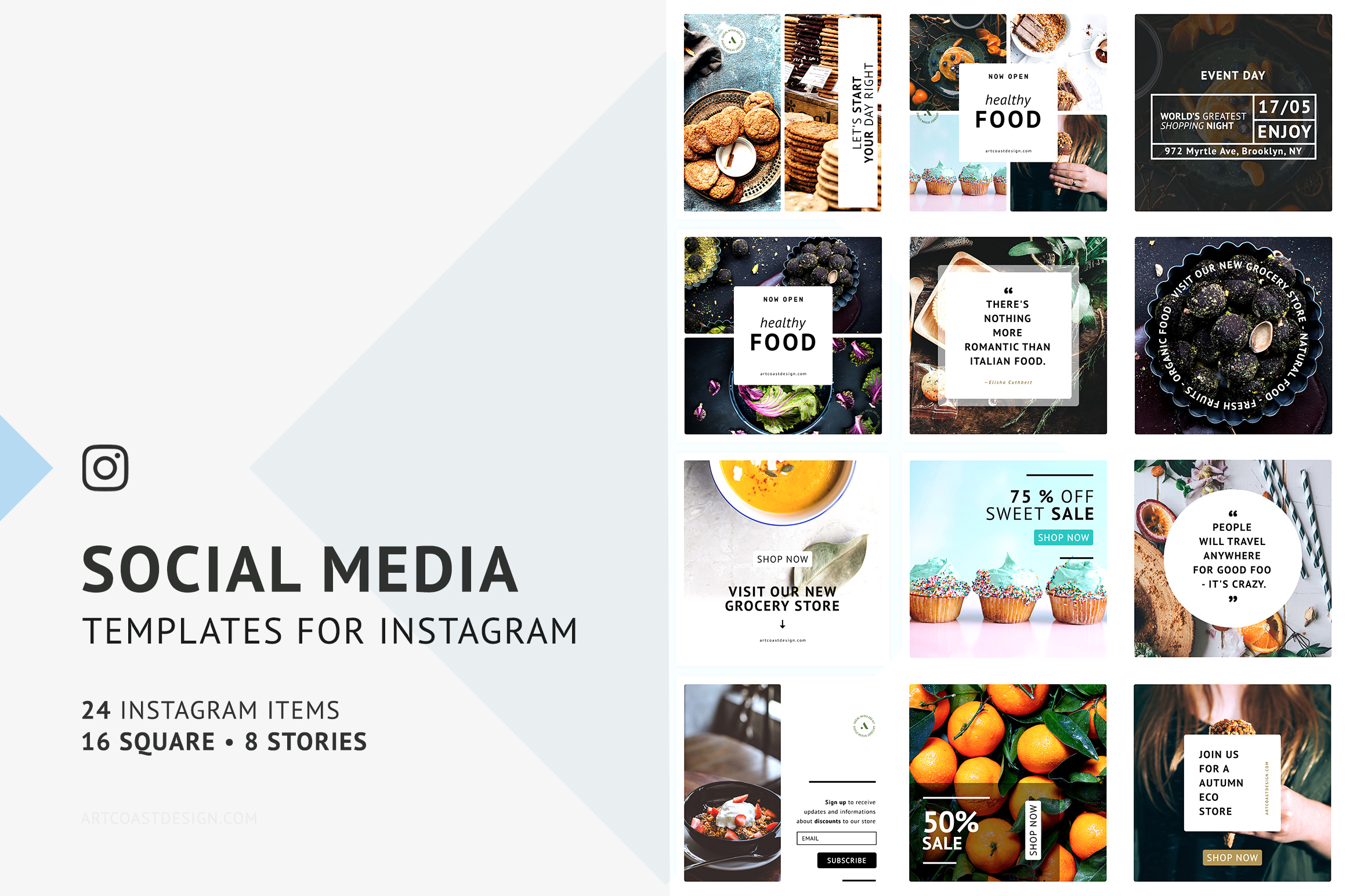 24 Instagram Templates Graphic Graphic Templates By Dmitry Mashkin - Image 6