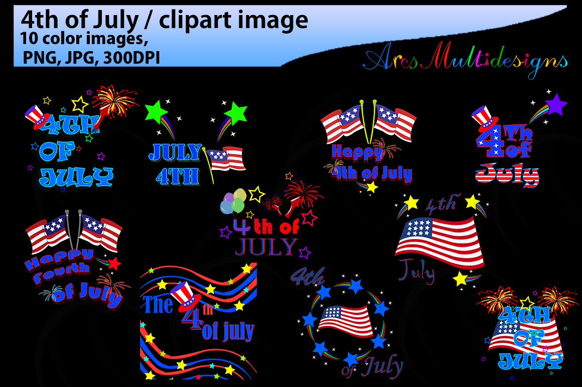 4th of July Graphic By Arcs Multidesigns