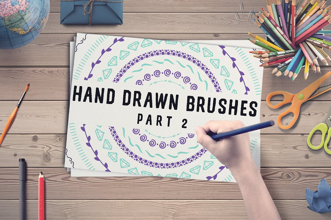 50 Hand Drawn Brushes, Part 2 - AI Graphic By Latin Vibes Image 4