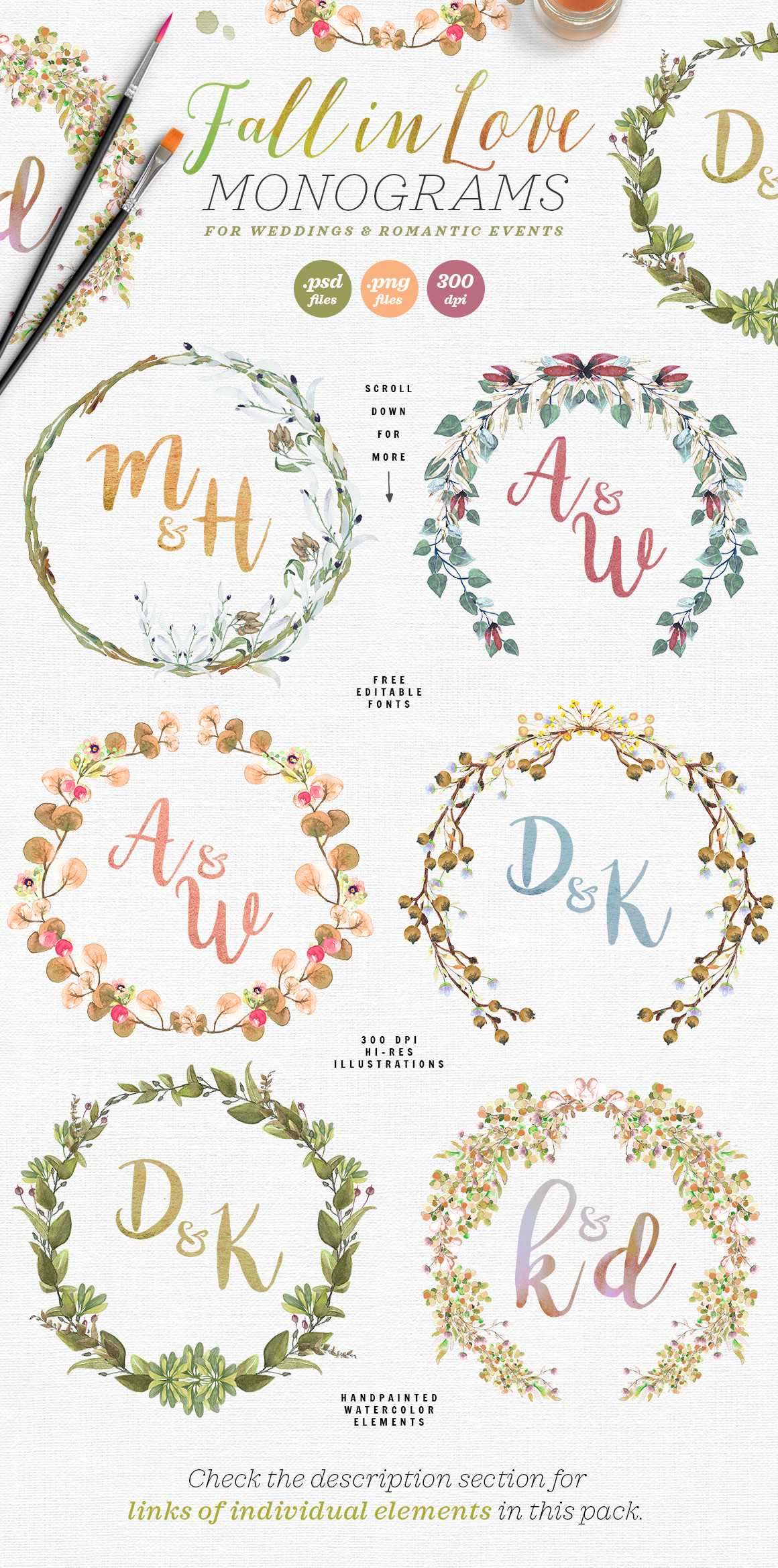 Download Free 6 Fall In Love Wedding Monograms V Grafico Por Lavie1blonde for Cricut Explore, Silhouette and other cutting machines.