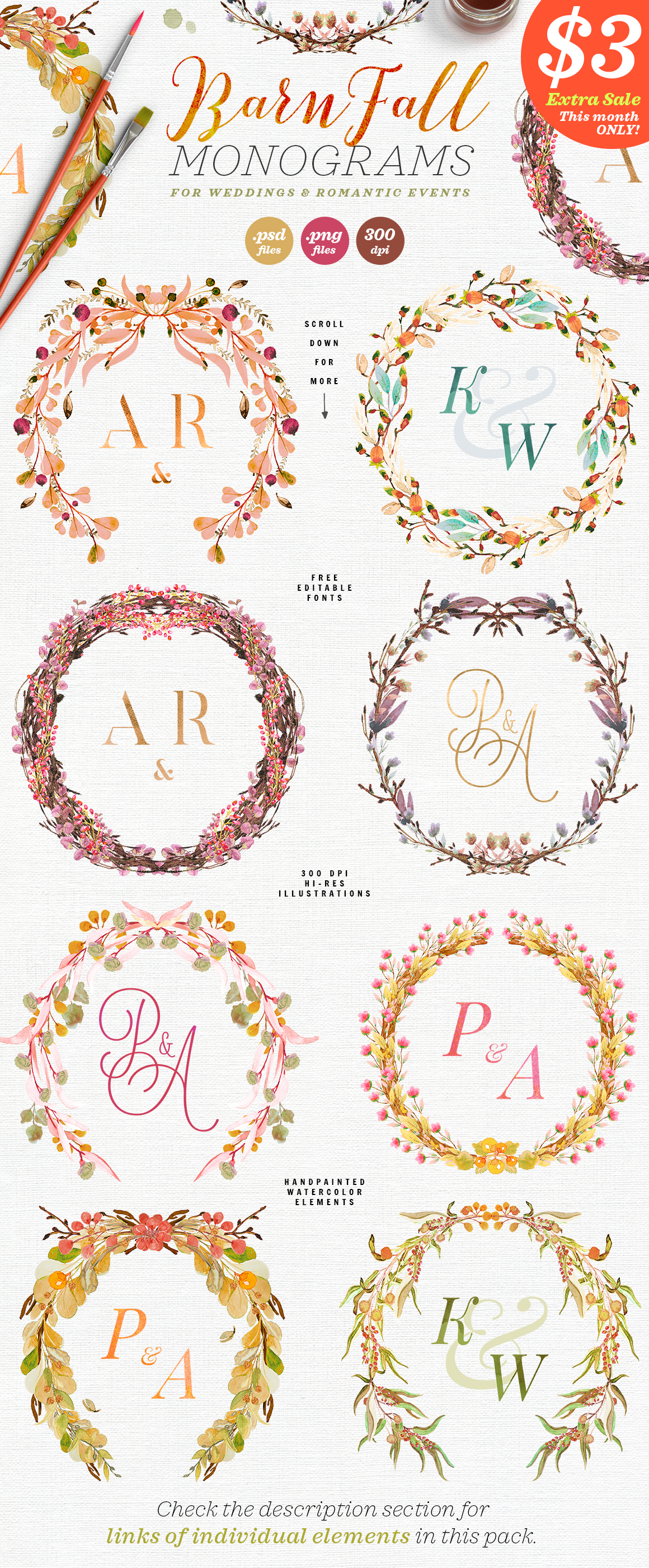 Download Free 8 Barn Fall Wedding Monograms Vii Graphic By Lavie1blonde for Cricut Explore, Silhouette and other cutting machines.