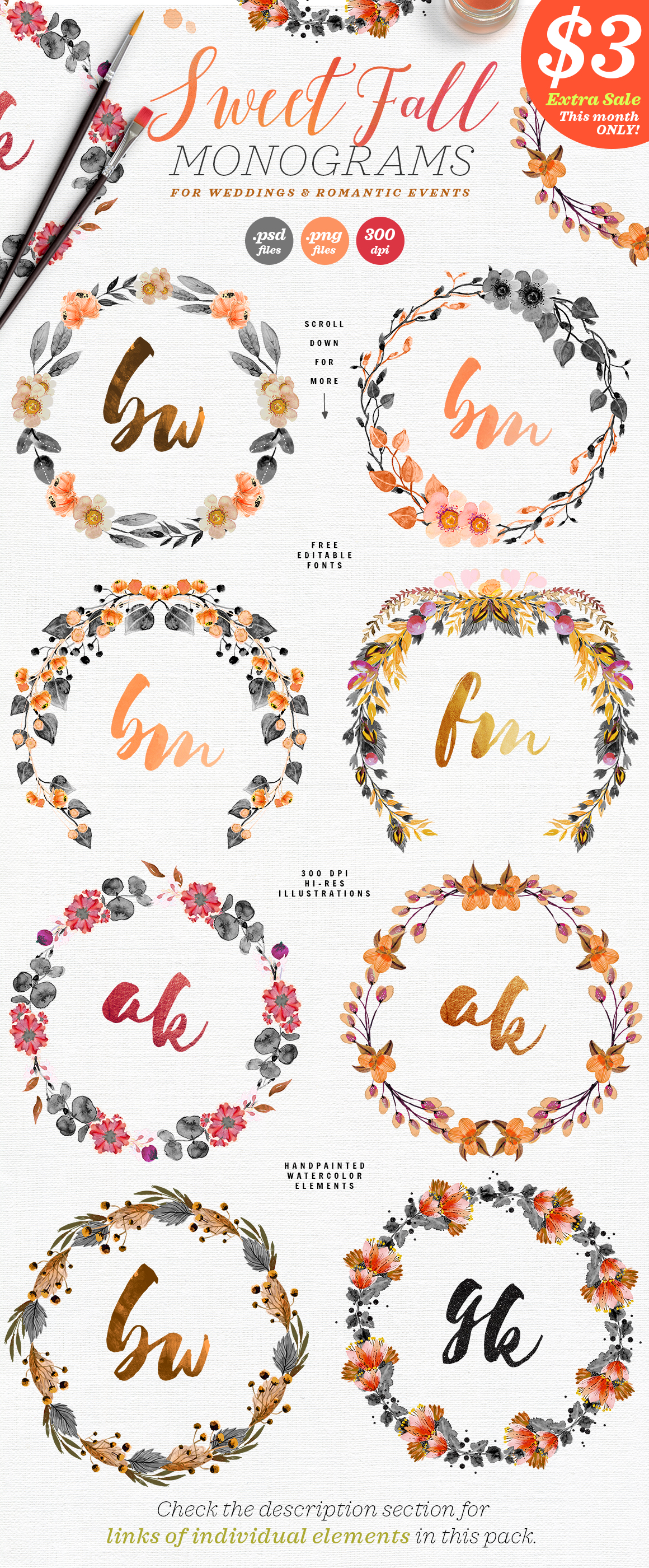 Download Free 8 Sweet Fall Wedding Monograms X Graphic By Lavie1blonde for Cricut Explore, Silhouette and other cutting machines.