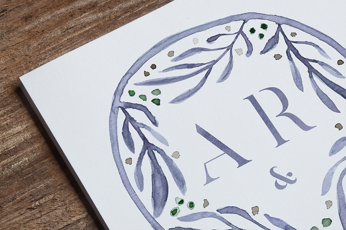 8 Watercolor Wedding Monograms I Graphic Objects By lavie1blonde - Image 3