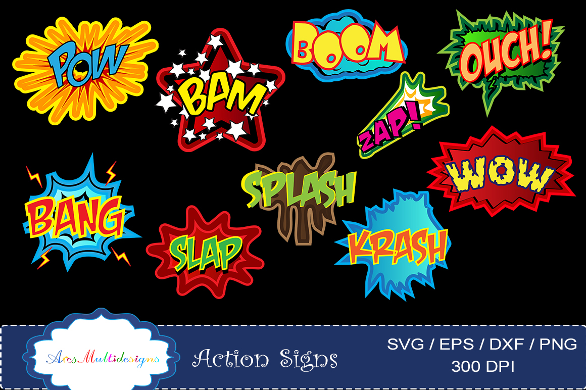 Print on Demand: Action Signs Vector Art Graphic Illustrations By Arcs Multidesigns - Image 4