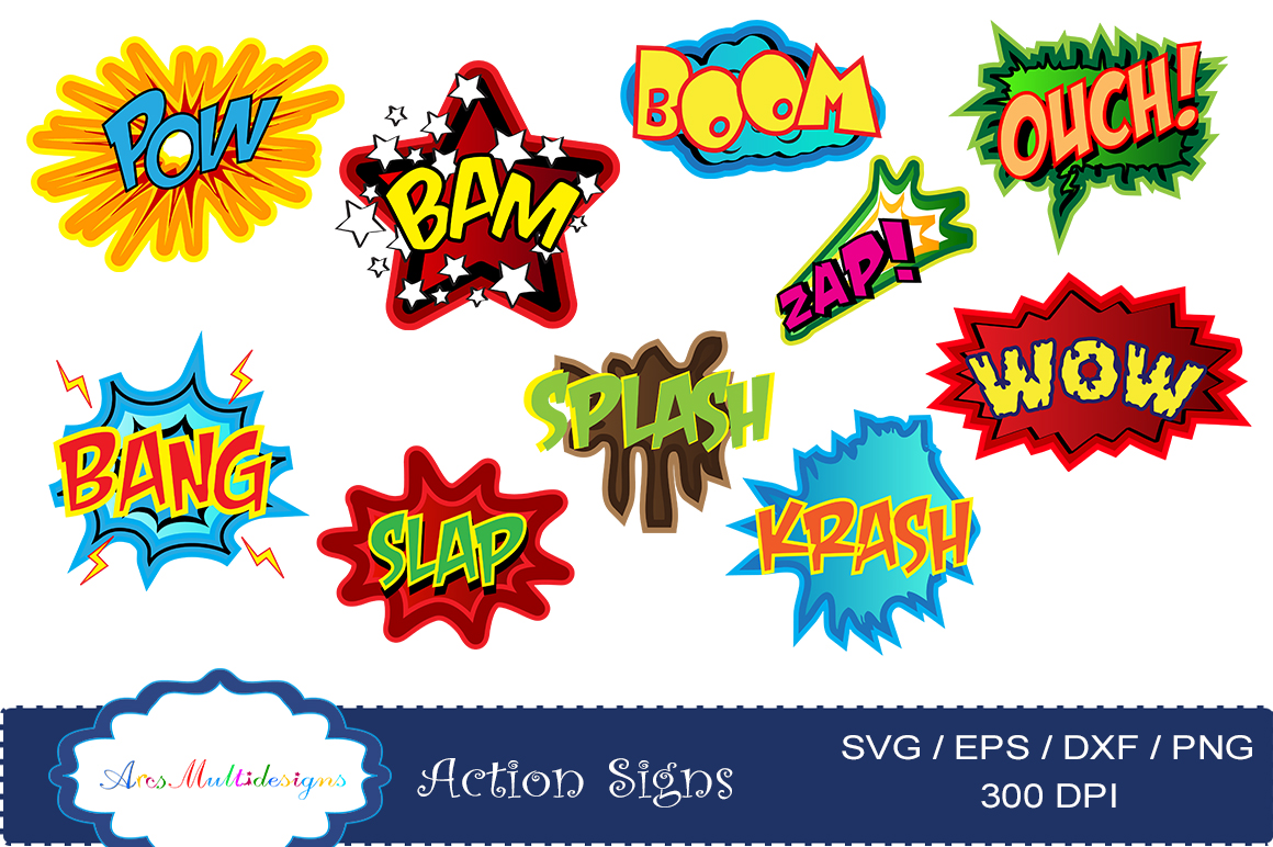 Print on Demand: Action Signs Vector Art Graphic Illustrations By Arcs Multidesigns - Image 5