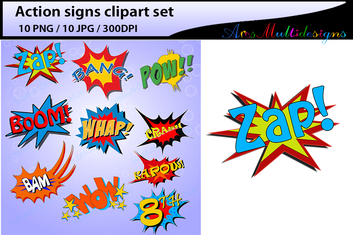 Action Signs Graphic By Arcs Multidesigns