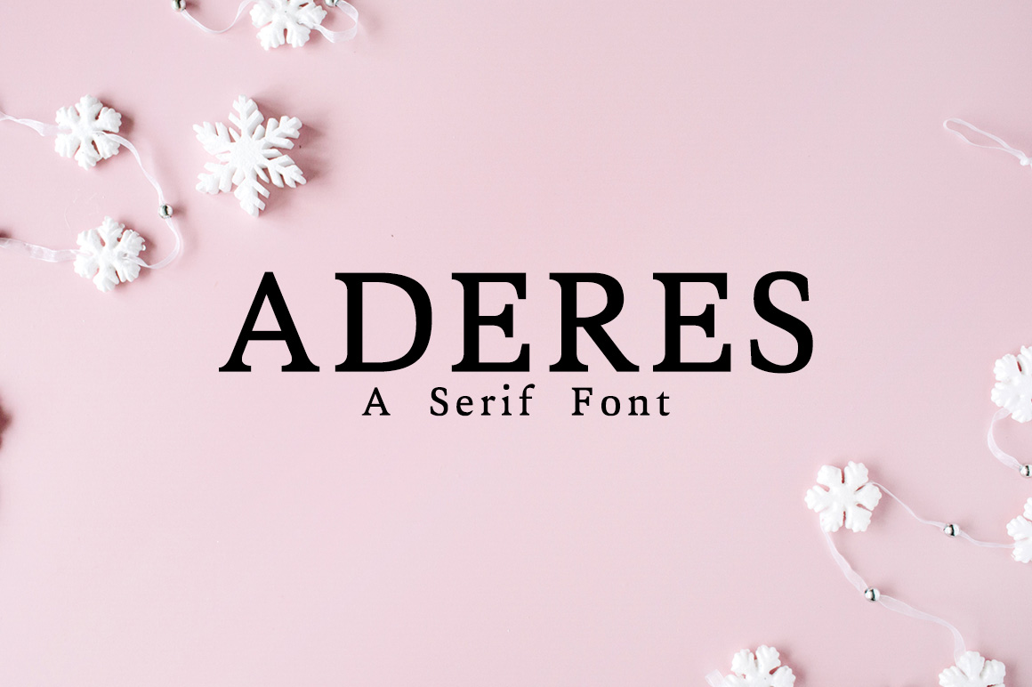 Print on Demand: Aderes Serif Font By Creative Tacos