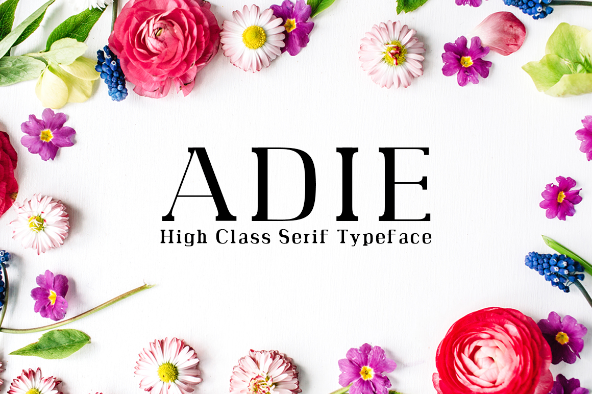 Print on Demand: Adie Serif Font By Creative Tacos