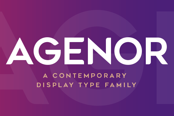 Print on Demand: Agenor Display Font By Graphite
