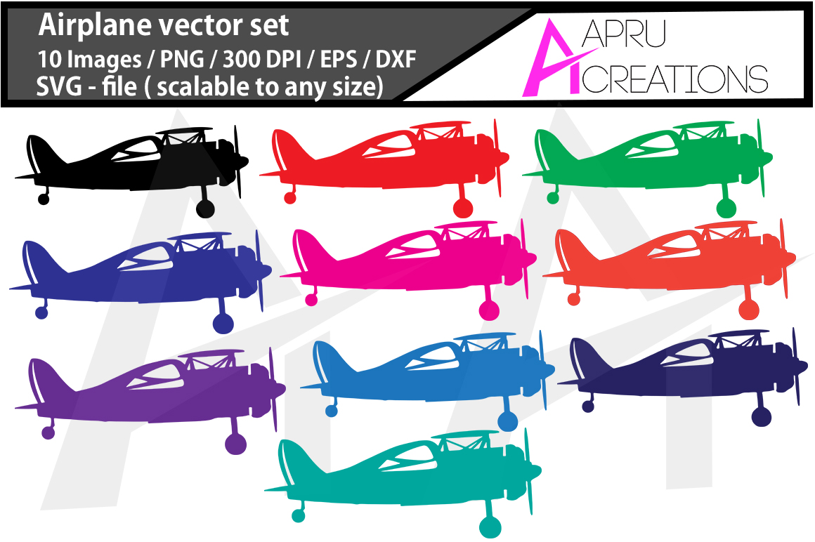 Download Free Airplane Vector Files Graphic By Aparnastjp Creative Fabrica for Cricut Explore, Silhouette and other cutting machines.