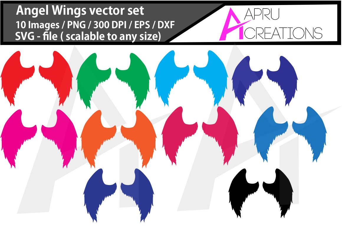 Print on Demand: Angel Wings Silhouette Graphic Crafts By aparnastjp
