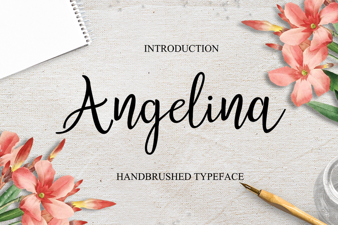Angelina Script Font By typehill