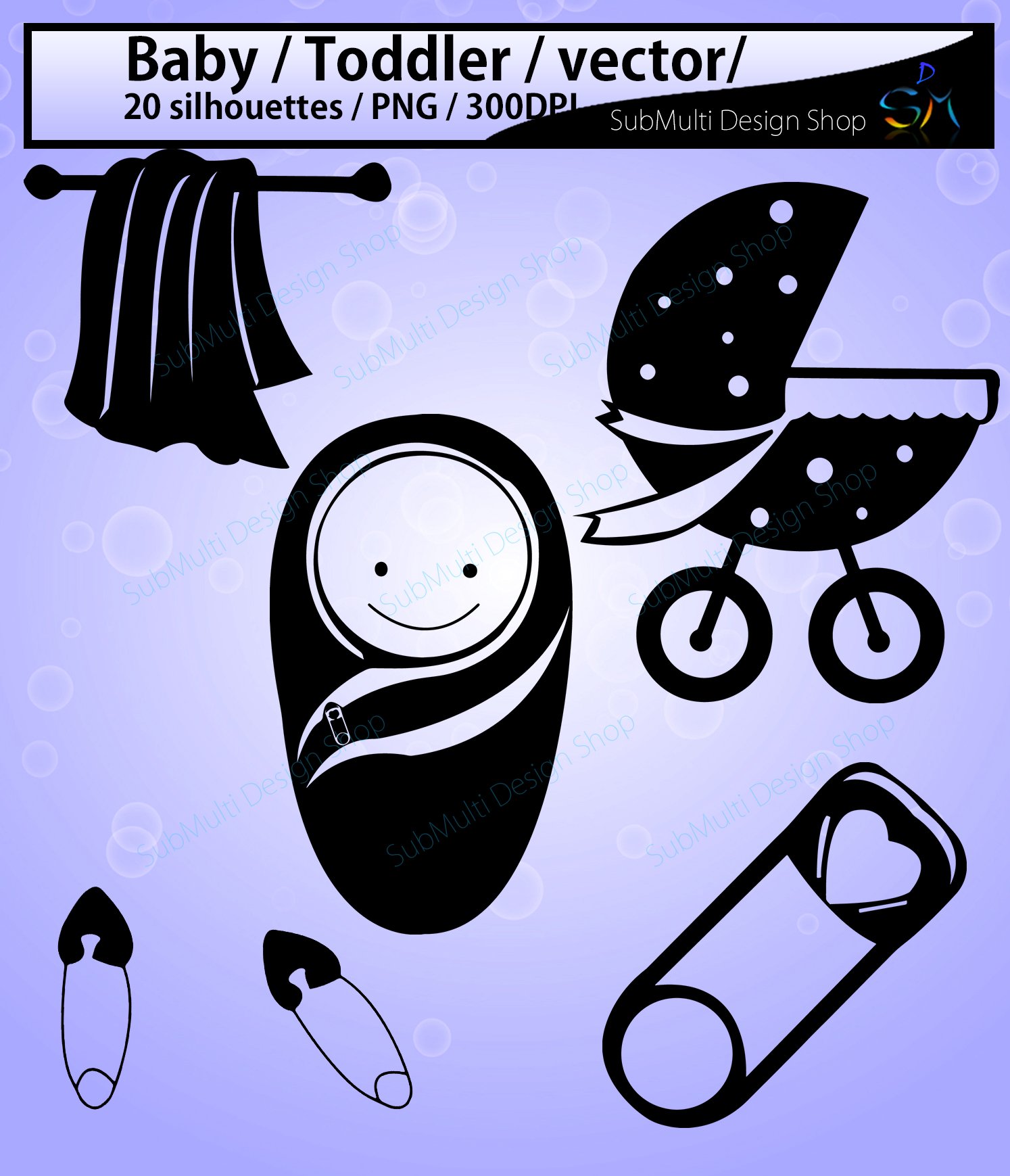 Print on Demand: Baby Silhouette Graphic Crafts By Arcs Multidesigns - Image 2