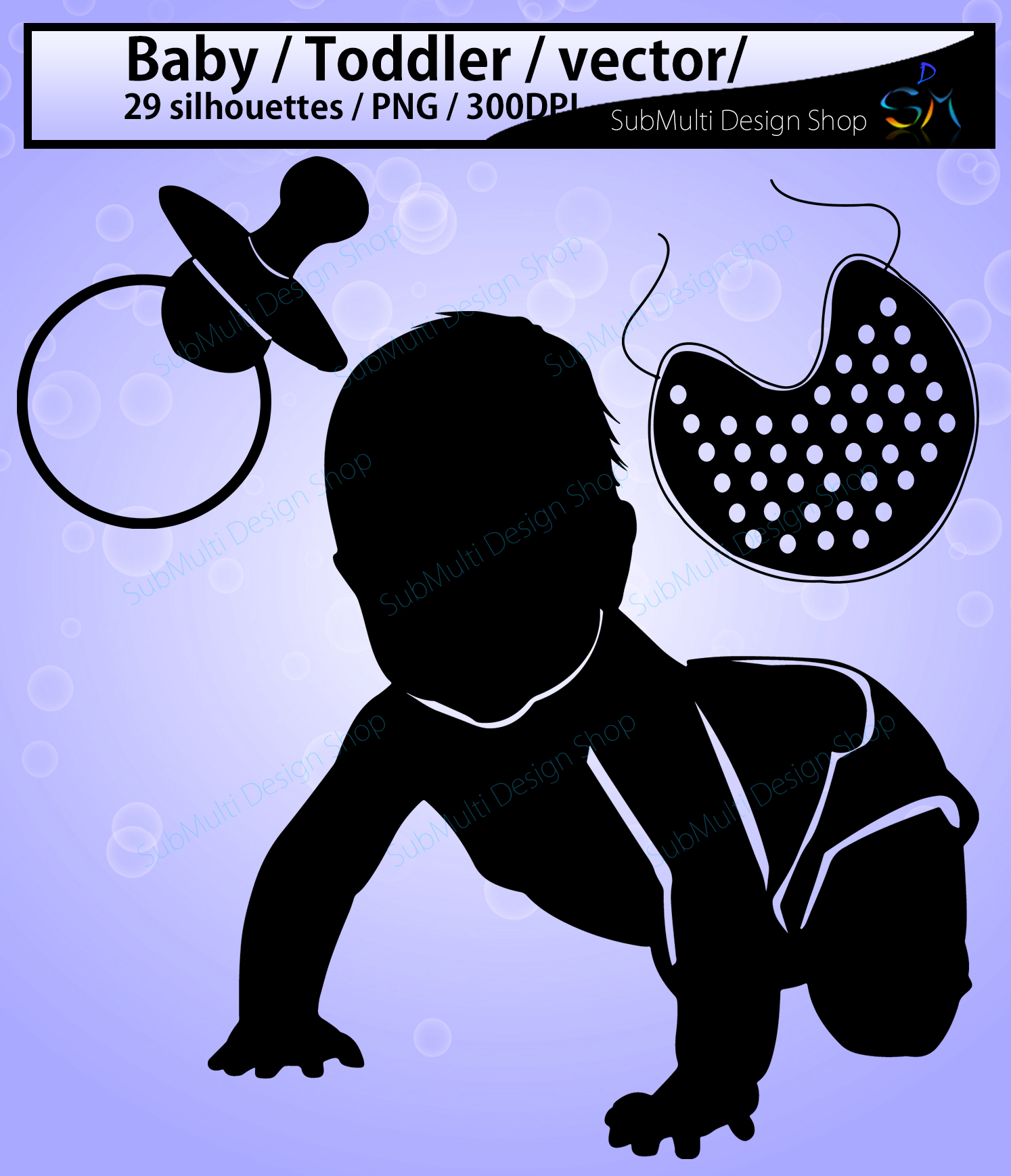 Print on Demand: Baby Silhouette Graphic Crafts By Arcs Multidesigns - Image 3
