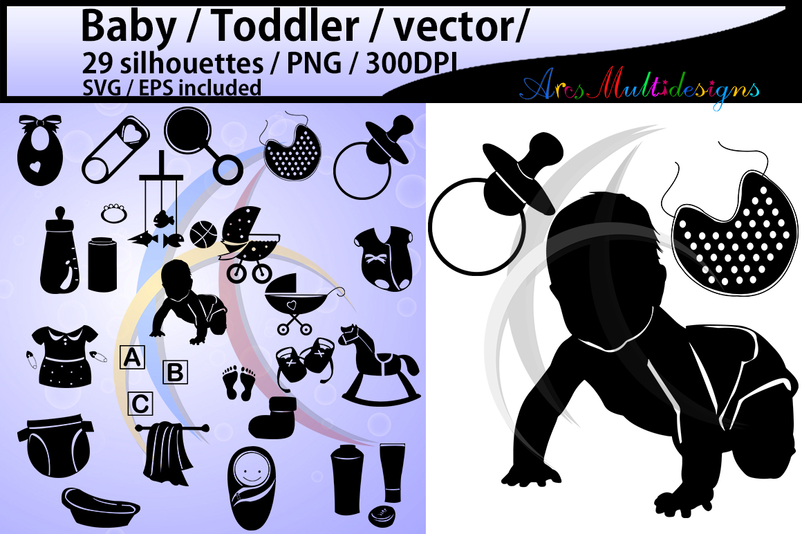 Baby Silhouette Graphic By Arcs Multidesigns