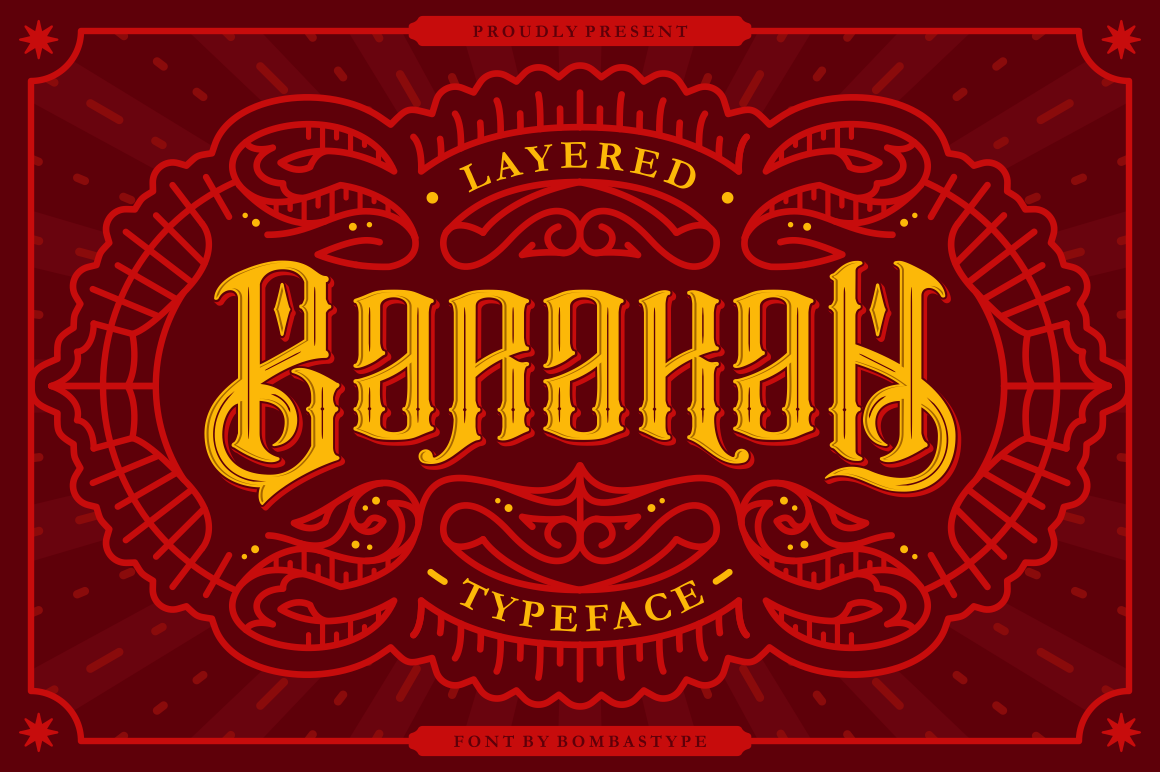 Barakah Display Font By bombastype