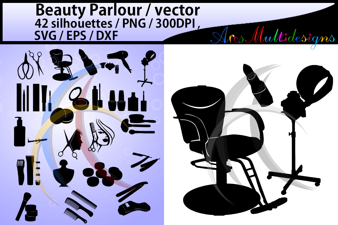 Print on Demand: Beauty Parlour Graphic Crafts By Arcs Multidesigns - Image 1