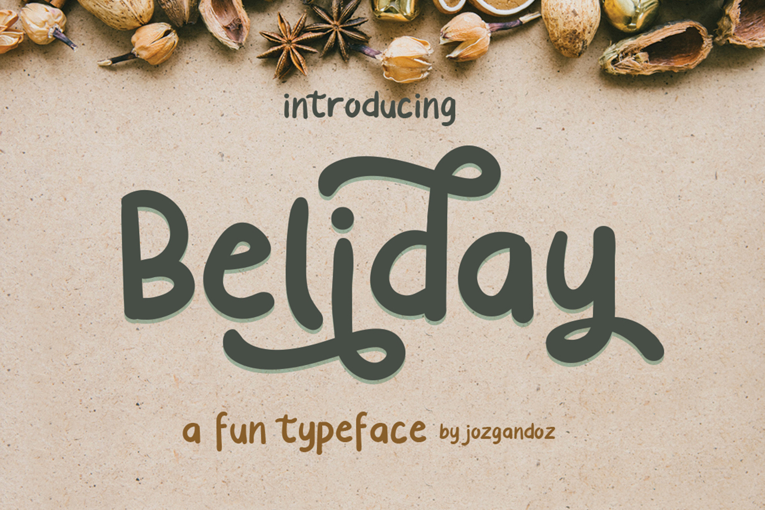 Print on Demand: Beliday Display Font By josgandos
