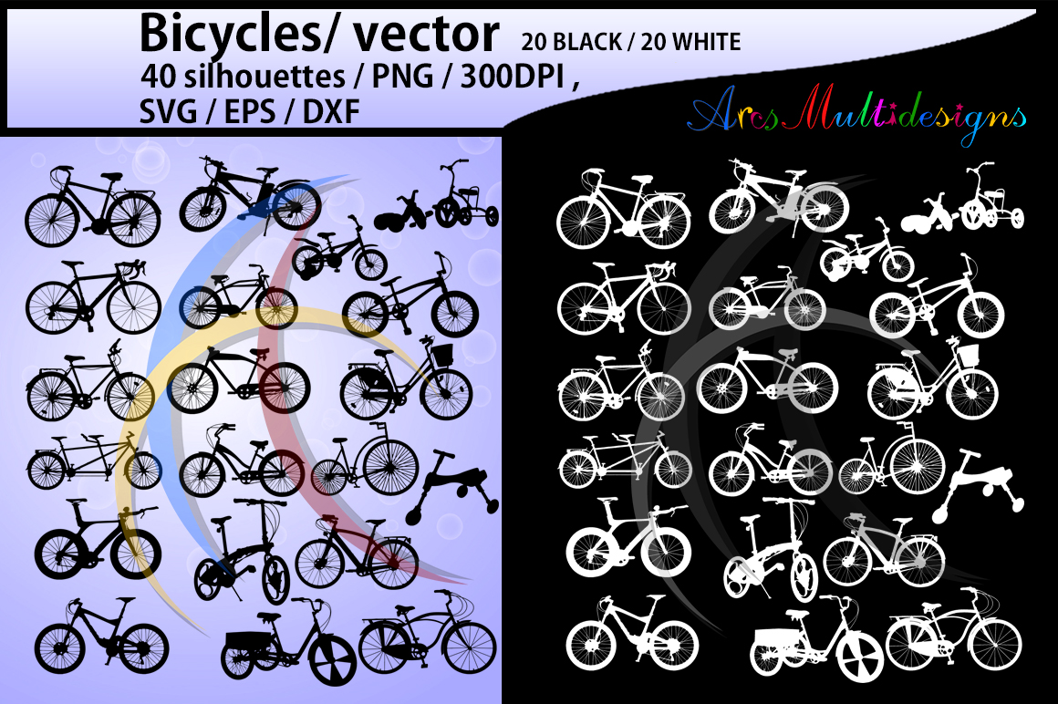 Download Free Bicycle Silhouette Grafico Por Arcs Multidesigns Creative Fabrica for Cricut Explore, Silhouette and other cutting machines.