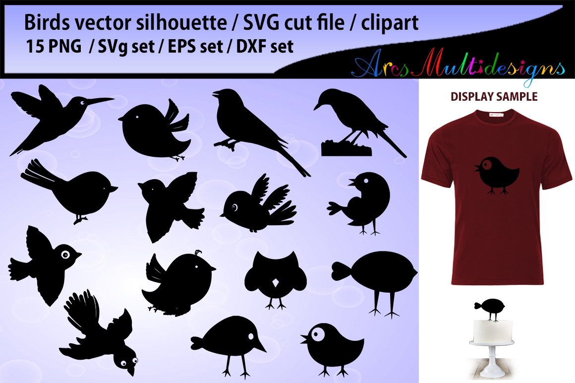 Download Free 1 Print On T Shirt Birds Designs Graphics for Cricut Explore, Silhouette and other cutting machines.