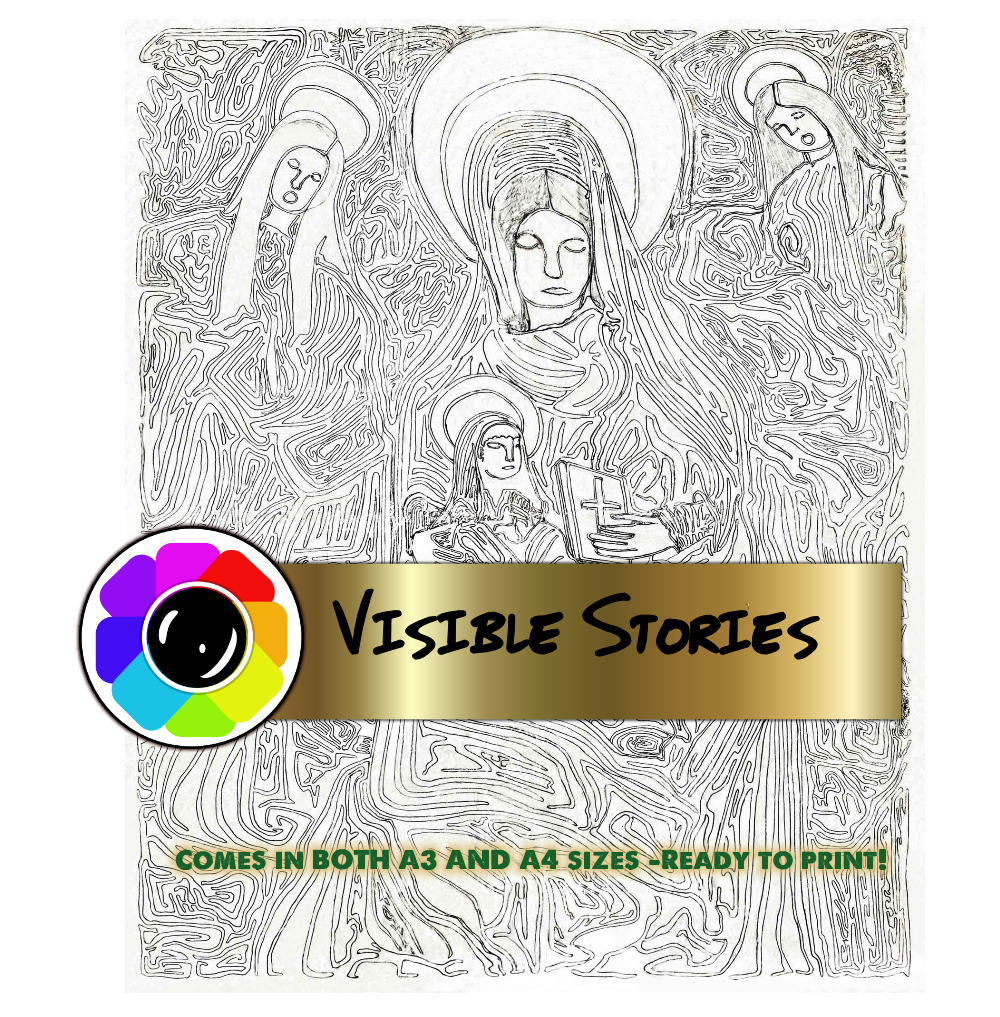 Print on Demand: Birth of Christ Original Hand Drawn  Image Graphic Illustrations By Angela H. Evans