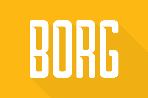 Print on Demand: Borg Font By Creative Fabrica Freebies - Image 1