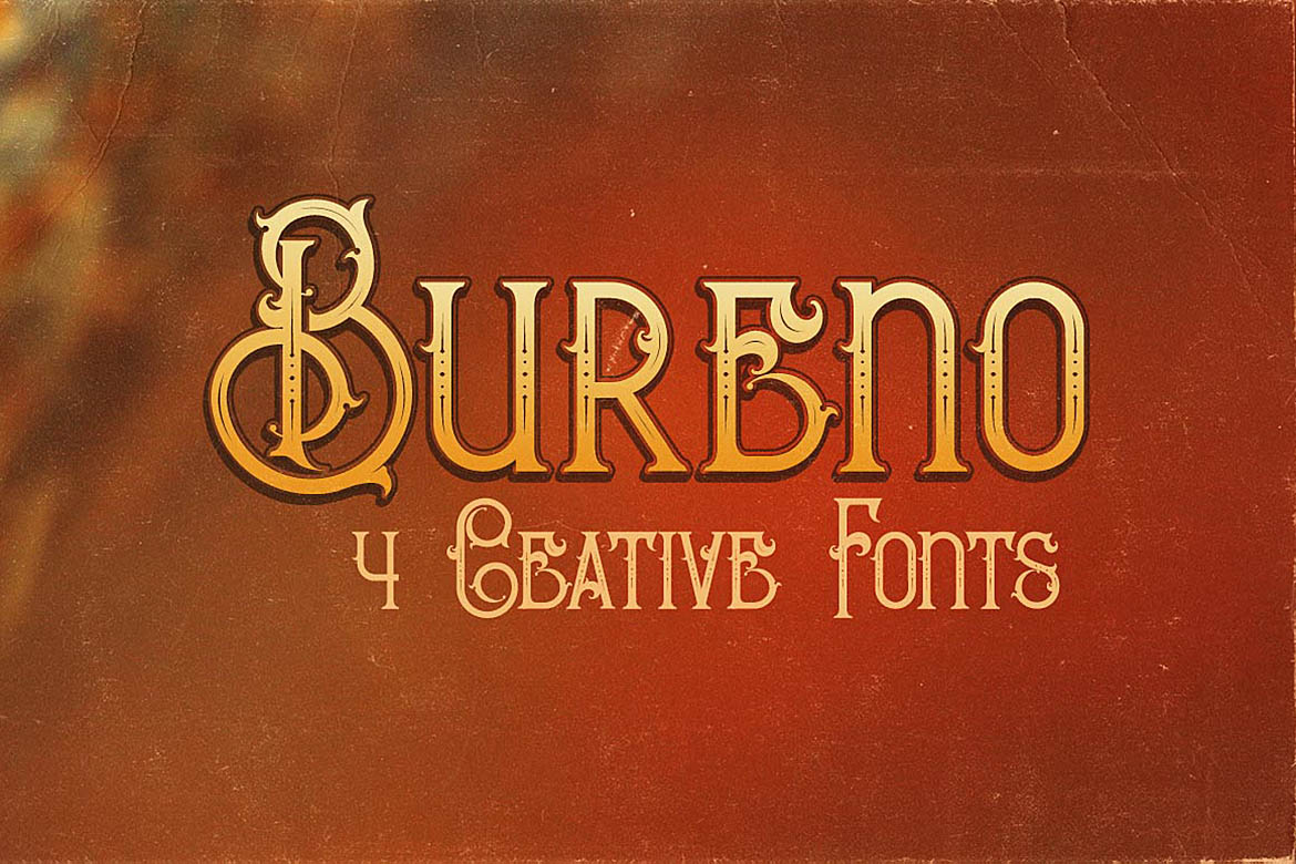 Print on Demand: Bureno Display Font By JumboDesign