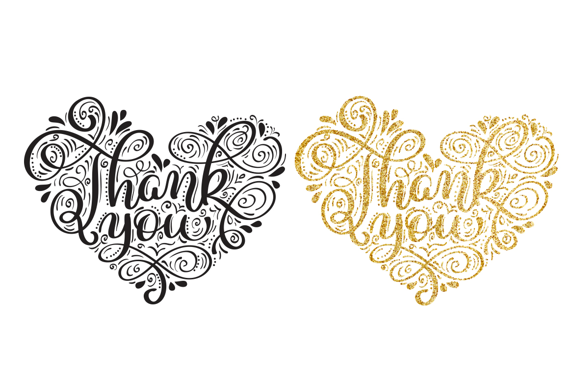 Calligraphy Vintage Phrase Thank You Graphic Illustrations By Happy Letters - Image 4