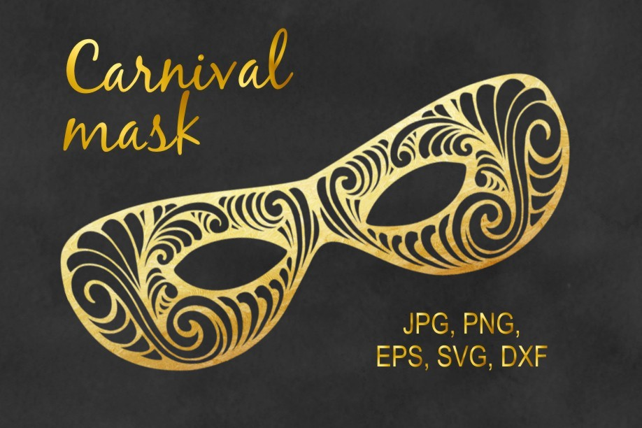 Carnival Mask Graphic Objects By Eva Barabasne Olasz