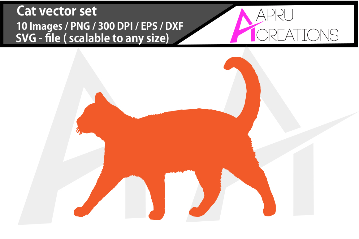 Download Free Cat Silhouette Graphic By Aparnastjp Creative Fabrica for Cricut Explore, Silhouette and other cutting machines.