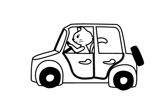 Download Free Cat Driving Car Svg Cut File By Creative Fabrica Crafts SVG Cut Files