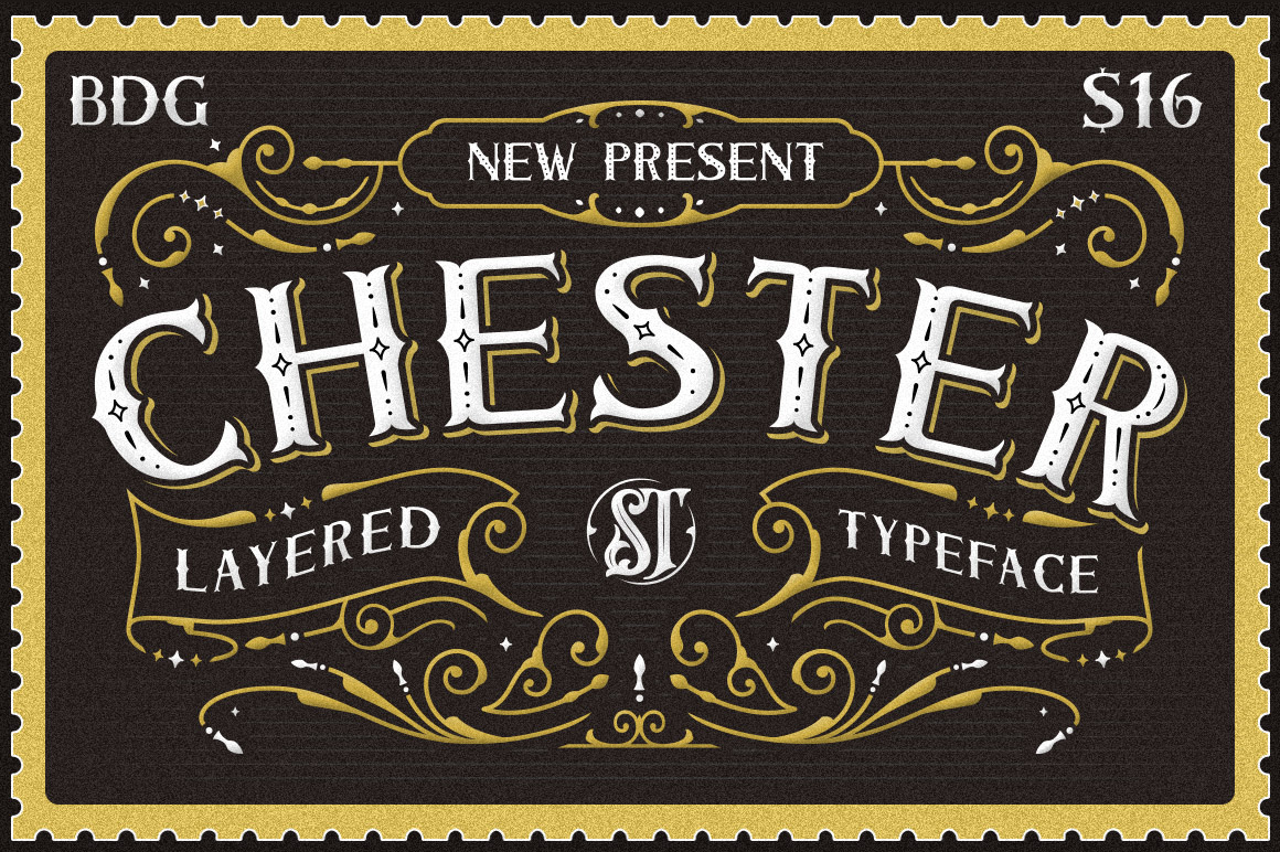 Print on Demand: Chester Display Schriftarten von storictype