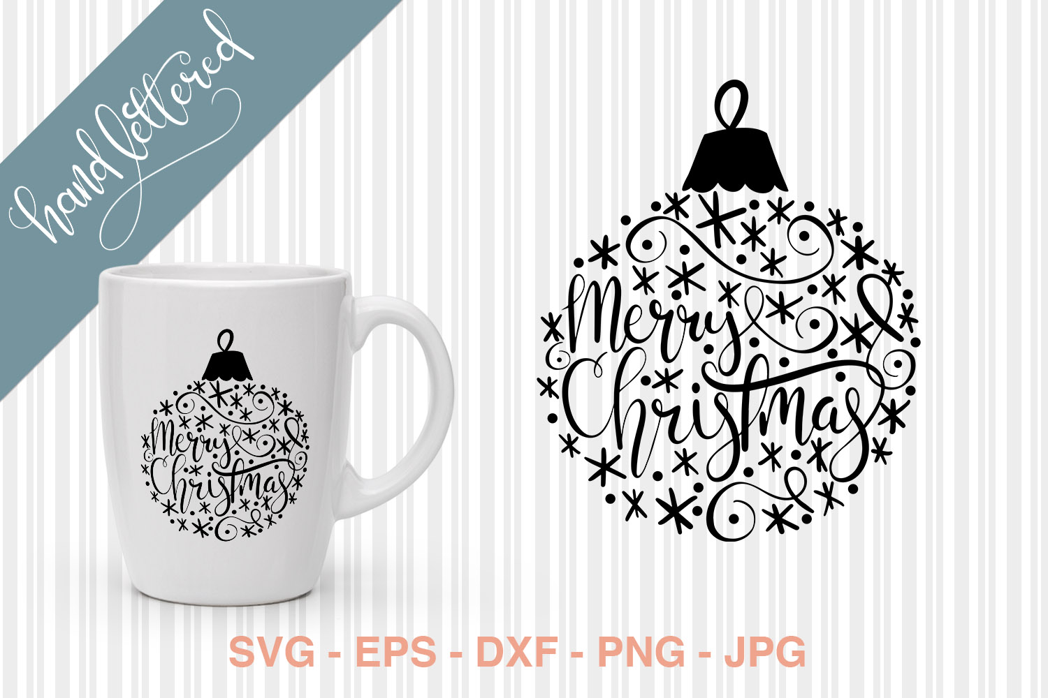 Download Free Christmas Bauble Graphic By Kristy Hatswell Creative Fabrica for Cricut Explore, Silhouette and other cutting machines.
