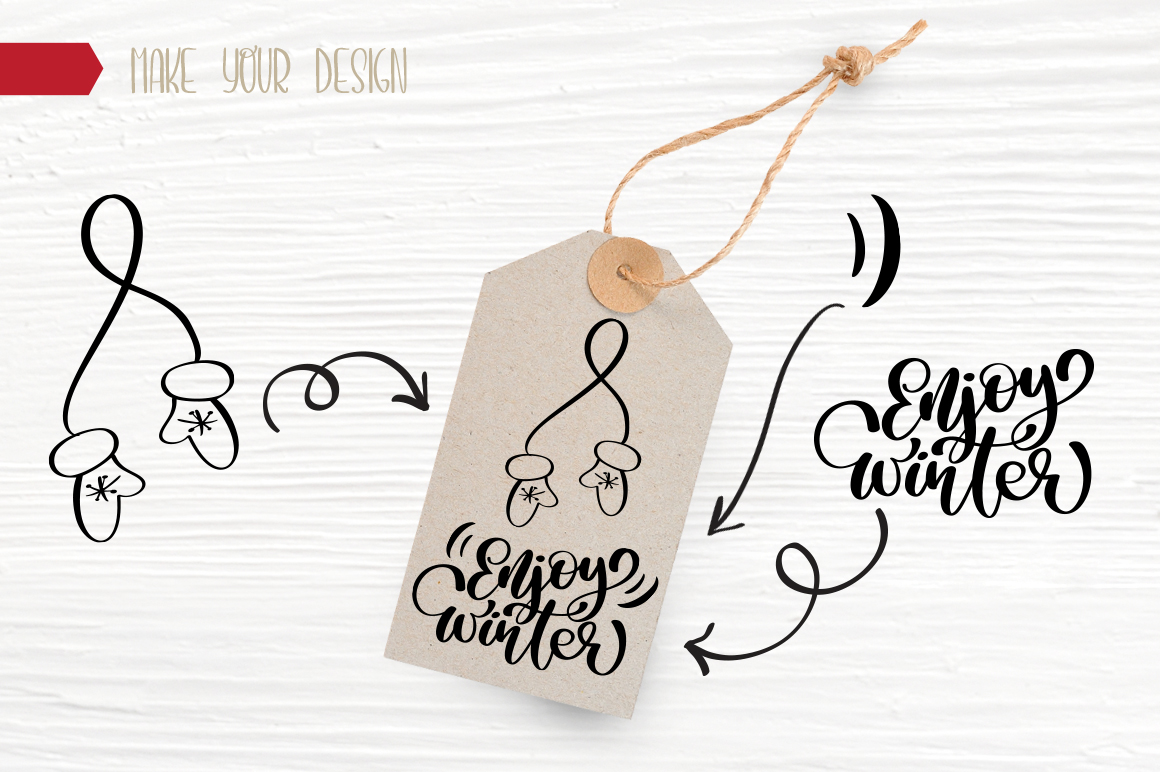 Christmas Bundle Graphic Objects By Happy Letters - Image 16