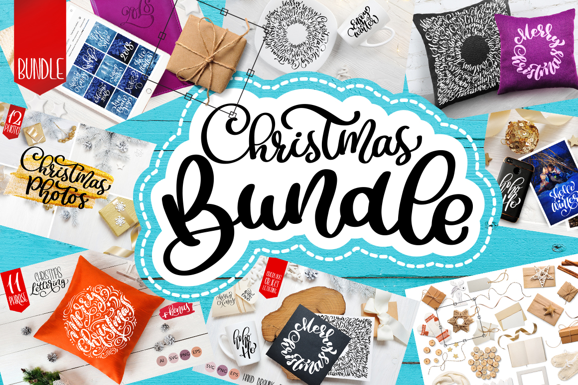 Christmas Bundle Graphic Objects By Happy Letters