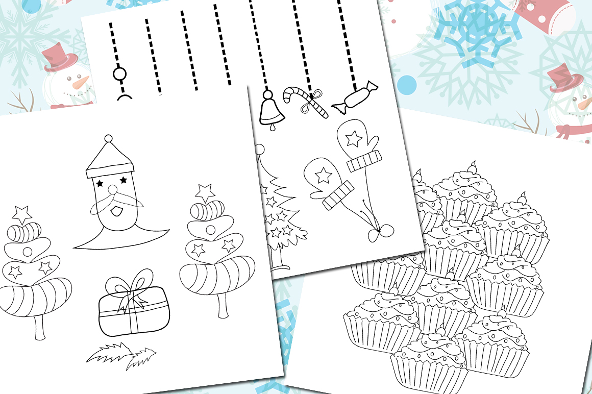Print on Demand: Christmas Coloring Pages Graphic Coloring Pages & Books Kids By Arcs Multidesigns - Image 2