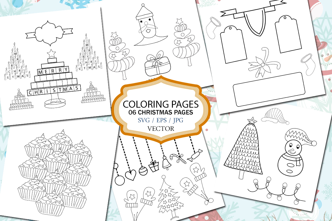 Print on Demand: Christmas Coloring Pages Graphic Coloring Pages & Books Kids By Arcs Multidesigns - Image 1