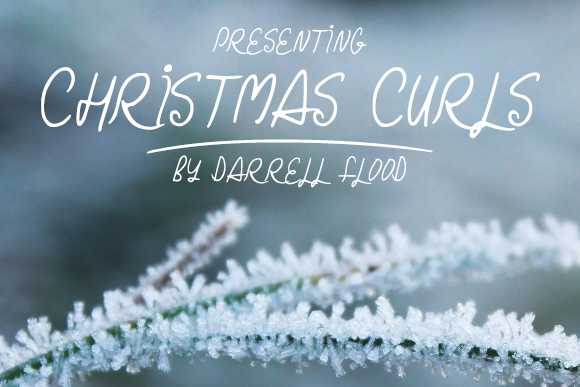 Print on Demand: Christmas Curls Script & Handwritten Font By Dadiomouse