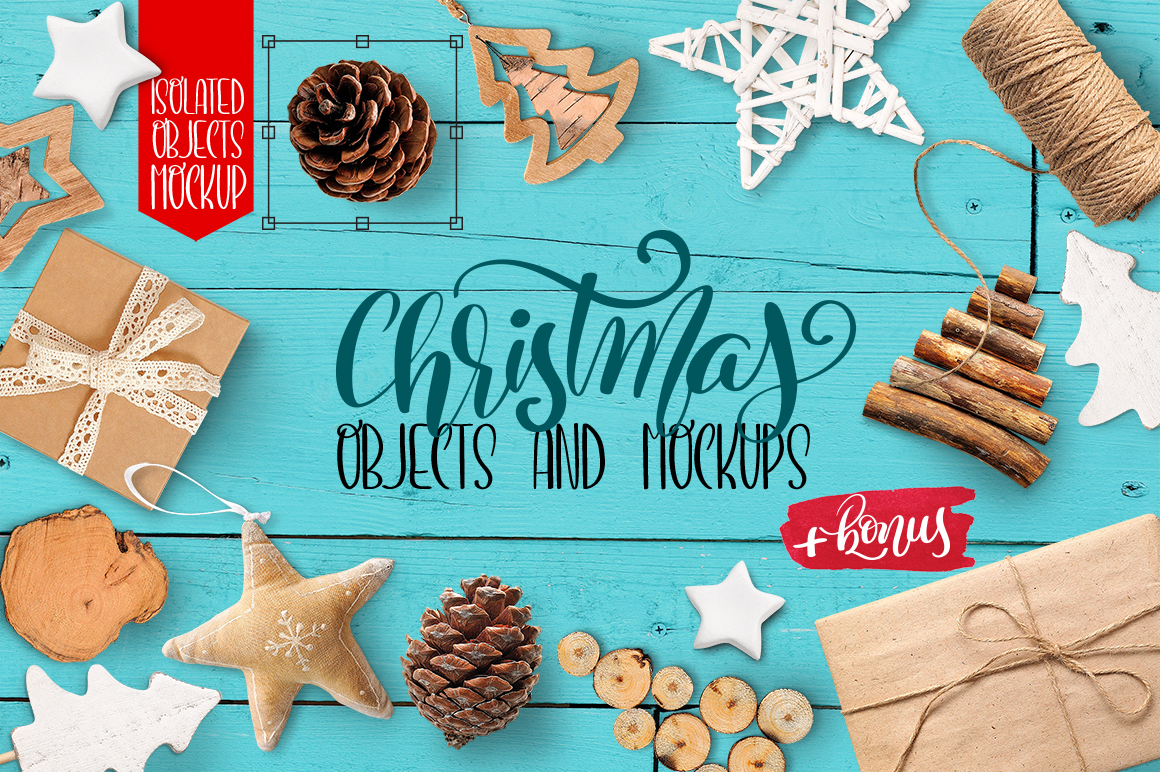 Christmas Isolated Objects and Mockups Graphic Product Mockups By Happy Letters