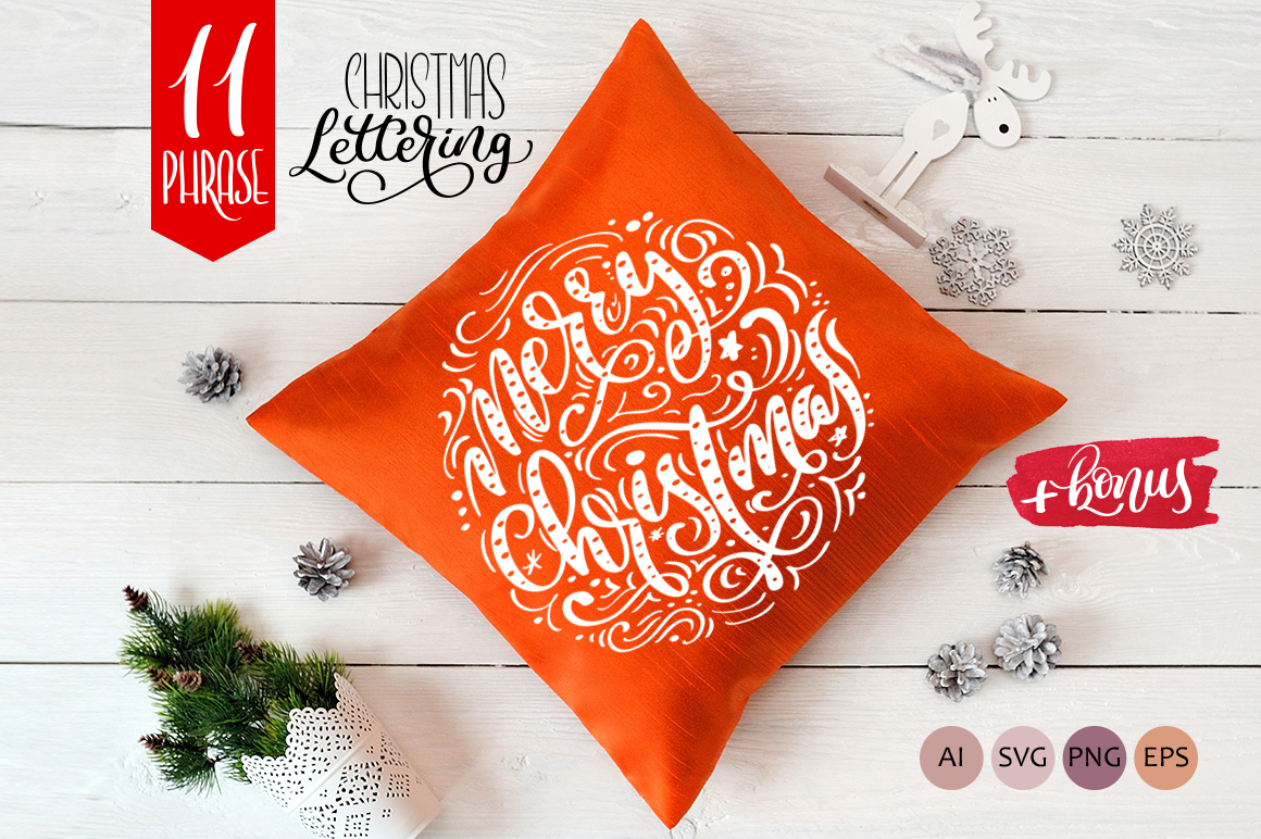 Download Free Christmas Lettering Phrases Graphic By Happy Letters Creative for Cricut Explore, Silhouette and other cutting machines.