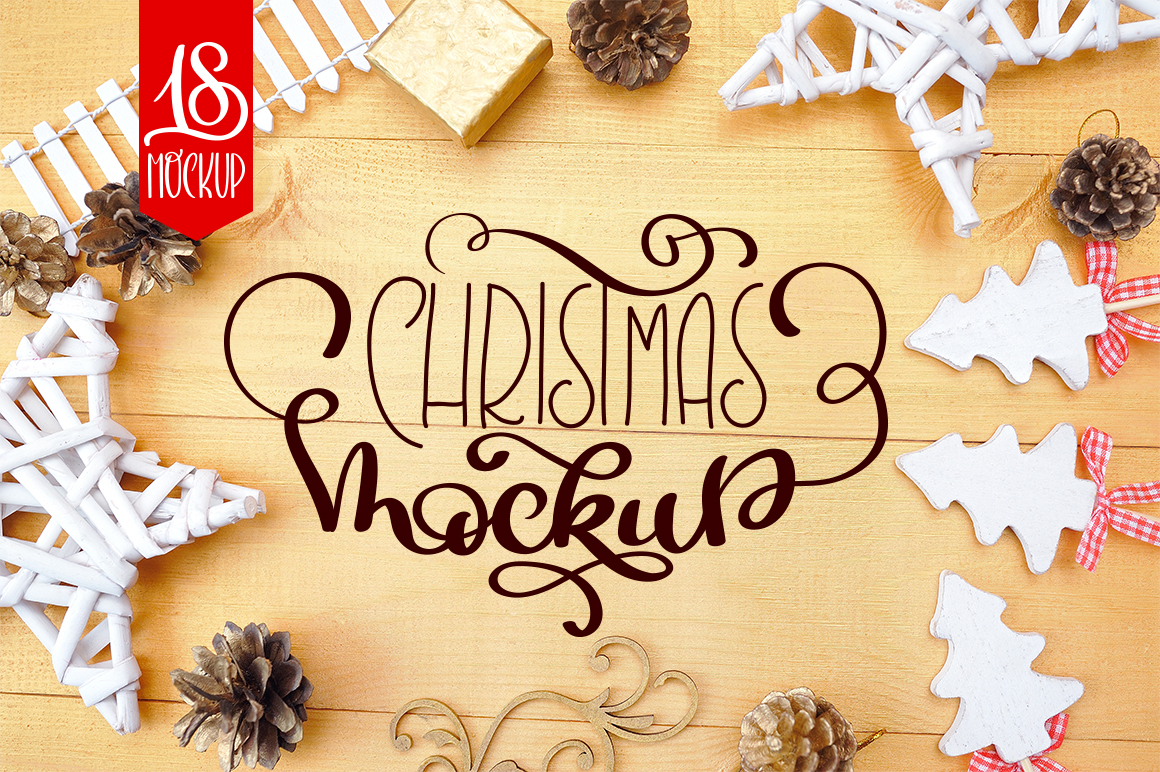 Christmas Mock Up Photos Collection 3 Graphic Product Mockups By Happy Letters