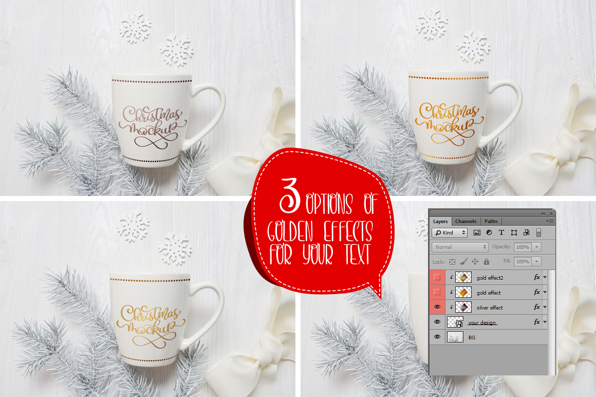Christmas Mug and Letter Mockups Graphic Product Mockups By Happy Letters - Image 2